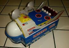 WORKING UNIVERSE BOAT ME 767 Vintage Battery Op Tin Gyro Action Toy CHINA lights