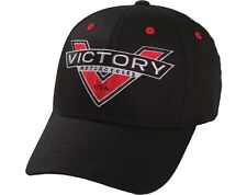 Victory Badge Logo Cap - Black OEM GENUINE Hat  by Victory Motorcycles