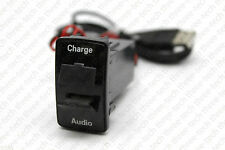 Dual USB Port Charger Audio Interface for Honda Acura Cars Blank Switch Hole