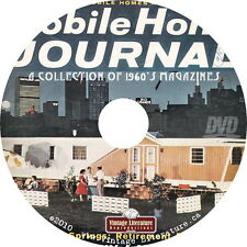 Mobile Home Journal { A Collection of 1960's RV Travel Trailer } Magazine on DVD