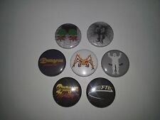 7 Dungeon Master pin badges - FTL Amiga 500 Atari ST Chaos Strikes Back RPG
