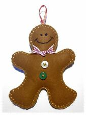 Handmade felt Christmas Gingerbread Man, Christmas Tree decoration ornament