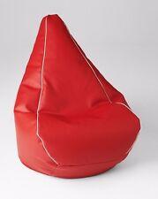 Chillizone Retro Bean Bag Red/White Vinyl Adult 200 litre