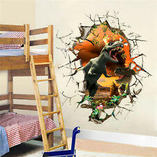 Fashion Wall Decal 3D Jurassic Dinosaur Kids Room Decor Wall Sticker Boy Gift
