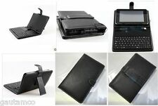 "USB KEYBOARD for AAKASH UBISLATE 7CX TABLET 7 7"" LEATHER CARRY CASE COVER STAND"