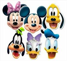 Mickey Mouse & Friends Official Disney Variety Six(6) Pack Fun CARD Party  Masks