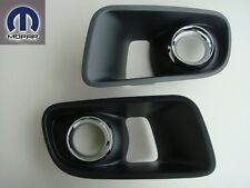 DODGE CHARGER SRT8 11 - 13 FRONT BUMPER INSERT FOG LIGHT LAMP HOLE COVERS BEZEL