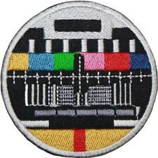 Television Test Card Patch Embroidered Badge 7.5cm