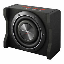 "Pioneer 8"" 600W 4-Ohm Shallow Loaded Carpeted Car Sub Enclosure 