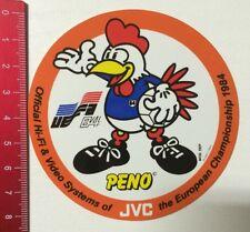 Aufkleber/Sticker: PENO UEFA 84 - JVC Official Hi-Fi & Video Systems (170316190)