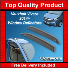 NEW VAUXHALL VIVARO 2014+ GENUINE CLIMAIR FRONT WIND DEFLECTORS TOP QUALITY TINT
