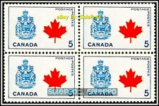 CANADA 1966 CANADIAN COAT OF ARMS MINT FV FACE 20 CENT MNH VINTAGE STAMP BLOCK