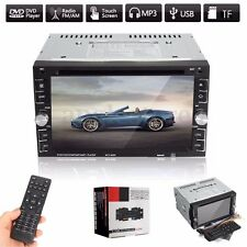 6.2'' Double 2DIN Bluetooth HD Touch Screen Car Stereo MP5 DVD Player FM Radio