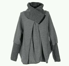 Women's New Italian Lagenlook Quirky winter wool coconn coat fashion jacket