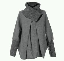 Women's new italien lagenlook quirky hiver laine coconn manteau fashion veste
