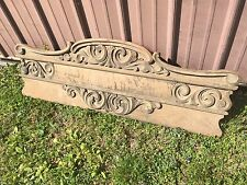 Outstanding Quartersawn Oak Pediment Crown Furniture