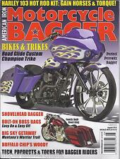 Motorcycle Bagger magazine Purple Beastie Road Glide Custom trike Warrior trail