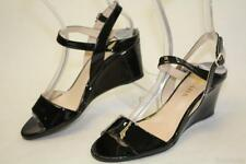 Prada NEW MISMATCH 37.5 36.5 Quarter Ankle Strap Wedge Womens Shoes ITALY fg