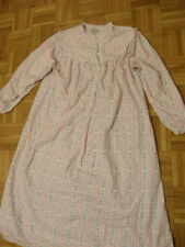 LANZ OF SALZBURG Flannel Floral Cotton Nightgown White & Pink Size Large