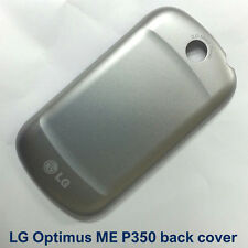 100% Genuine New LG Optimus Me P350 Back Battery Fascia Housing - Silver / grey
