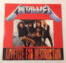 RARE METALLICA Appetite For Destruction Live Köln 1988 Bootleg Vinyl LP Record