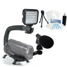 Light & Sound Bundle Kit for Sony Handycam HDR-XR150 HDR-CX150