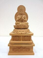 Japanese Japan, Wood carving Buddhist statue Shingon.Shu Dainichi Nyorai 21.5cm