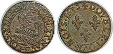 LOUIS XIII DOUBLE TOURNOIS 1632 E TOURS G.9a