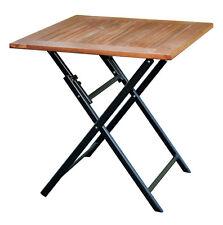 Klapptisch Holz 70x70 ALU-GESTELL Eukalyptus Balkontisch Gartentisch Holztisch