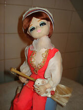 Vintage Big eye Bradley musical. Housemaid dreams of dancing Swan Lake. RARE