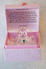 Especial SISTER@Cute Box@22KT Gold@Unique Set@Bridesmaids Regalo Personalizado De Oso