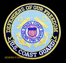 US COAST GUARD DEFENDERS OF OUR FREEDOM HAT PATCH USCG LOGO SEMPER PARATUS WOW