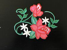 Sew on & iron on  patches(Vintage flower vine-red)
