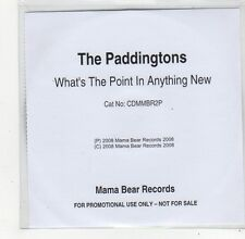 (FO786) The Paddingtons, What's The Point In Anything New - 2008 DJ CD