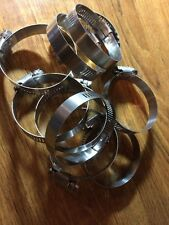 Qty 10 Tridon Stainless Steel Marine Hose Clamps Size #40/63mm 1-1/2 - 2-1/2""