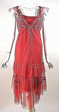 SALE**Nataya Dress Red/Rose Tulle Gatsby Victorian Cocktail Fancy Dress S NWT