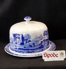"SPODE BLUE ITALIAN CHEESE / CAKE DOME 11 1/4"" MADE IN ENGLAND *NEW*"