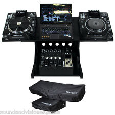 Novopro WS1 CDJ Workstation Stand + Covers for DJ Mixer Laptop Controller Studio