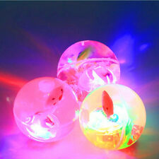 1x Yelow Flashing Light Up High Bouncing Balls Novelty Sensory Ball Baby Toys