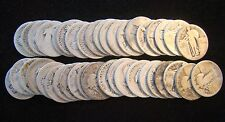 No Date ROLL (40) $10 Standing Liberty Quarters 90% SILVER - Item# 3818