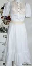 NOA NOA Tunika Kleid S 36 Estbury cotton white weiß Baumwolle cotton dress