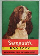 SERGEANT'S DOG BOOK ADVERTISING PET PRODUCTS BROCHURE GUIDE 1950s VINTAGE