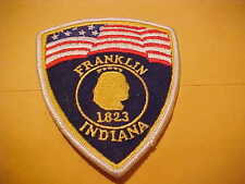 FRANKLIN INDIANA POLICE PATCH  SHOULDER SIZE NEW
