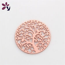 22mm Lucky Tree Discs Round Golden for Glass Living Memory Locket Floating Charm