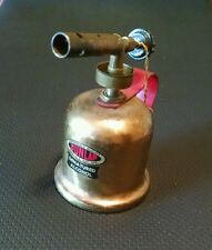 Vintage Small Dunlap Brass Alcohol Blow Torch  With Sears Original Price Tag