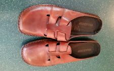 Predictions brand brown leather size 10M mules euc