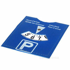 CAR PARKING DISC TIMER CLOCK ARRIVAL TIME DISPLAY DISABLED BLUE BADGE HOLDERS UK