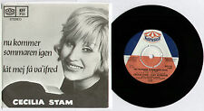 "[BEE GEES] CECILIA STAM ~ NU KOMMER SOMMAREN IGEN ~ 1968 SWEDISH 7"" SINGLE + P/S"