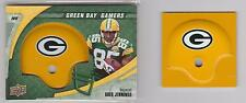 (4) 2008 Upper Deck LOT GREG JENNINGS Helmet Piece GREEN BAY PACKERS Swatch card