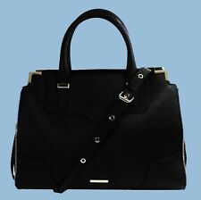 REBECCA MINKOFF 'AMOROUS' Black Saffiano Leather Satchel Convert Bag Msrp $325